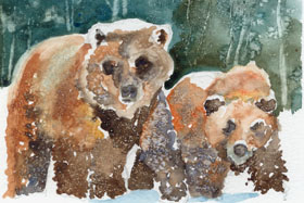 "click to order ""Bears in Winter"""