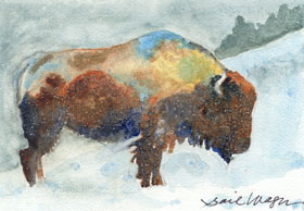 "click to order ""Buffalo in Winter"""