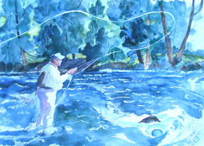"""click to order """"Fishing the Blue"""""""