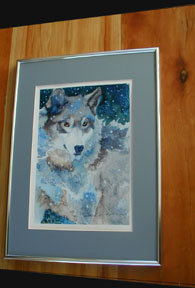 Framed Print: Fox Portrait