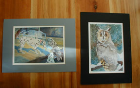 Matted Print: Siamese Cats